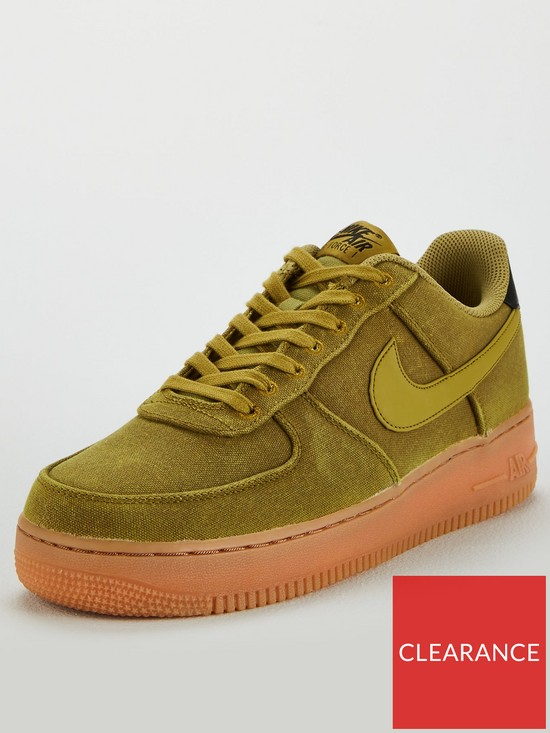 watch 474e0 8d694 Nike Air Force 1  07 LV8 Style Trainers - Green Gum