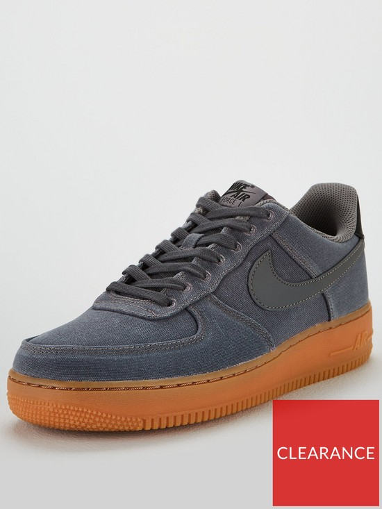 info for 8c900 aa2d9 Nike Air Force 1  07 LV8 Style Trainers - Grey Gum   very.co.uk