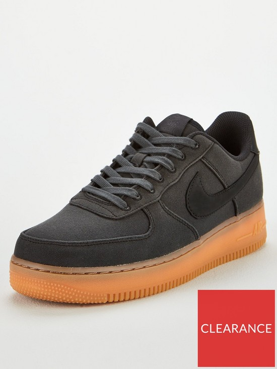 sale retailer df12b 2bc6f Nike Air Force 1  07 LV8 Style Trainers - Black   very.co.uk