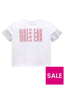 v-by-very-girls-039girls-can039-slogan-mesh-sleeve-t-shirt