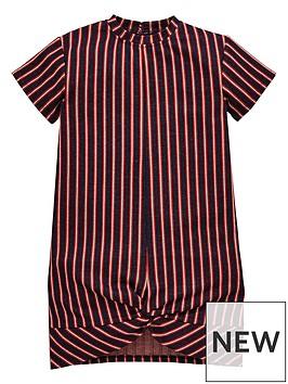 v-by-very-girls-stripe-twist-front-dress