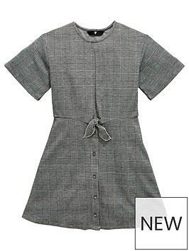 v-by-very-girls-check-tie-front-dress