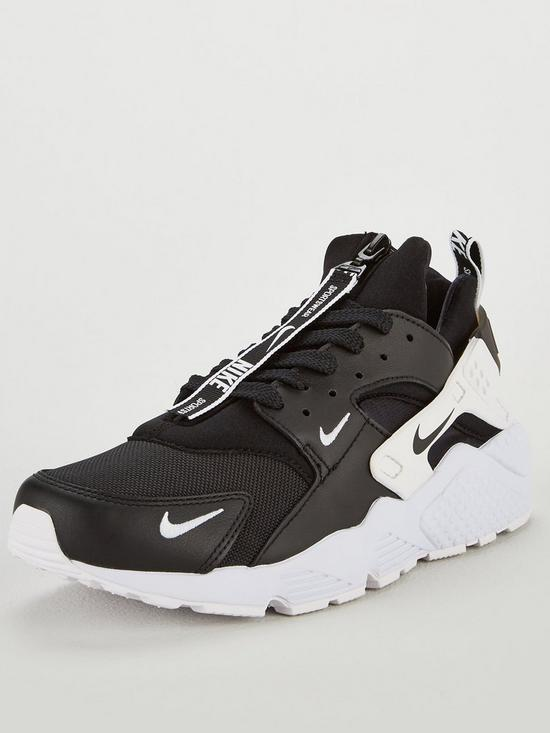 5488b1a39adb Nike Air Huarache Run PRM Zip Trainers - Black