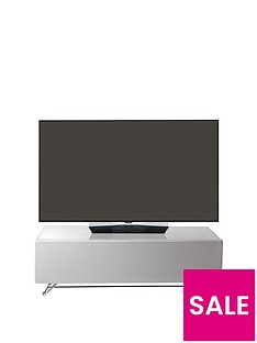 Alphason Chromium 120 cm Concept TV Stand - White - fits up to 60 inch TV