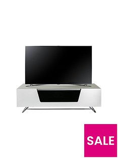 Alphason Chromium 120 cm TV Unit - White - fits up to 55 inch TV