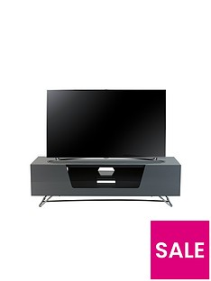 Alphason Chromium 120 cm TV Unit - Grey - fits up to 55 inch TV