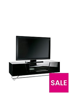 Alphason Chromium 120 cm TV Unit - Black - fits up to 55 inch TV