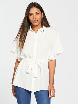 v-by-very-ruffle-sleeve-blouse-ivory