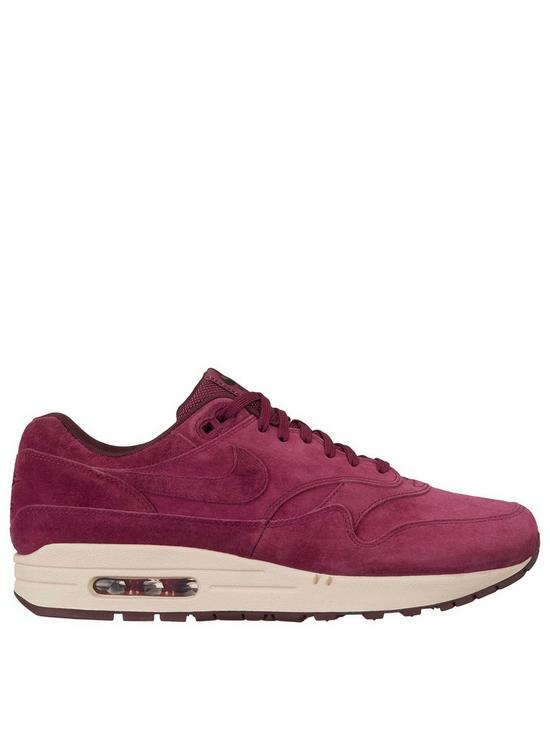 Air Max 1 Premium Trainers Burgundy