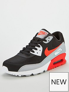nike-air-max-90-essential-trainers-blackgreyred