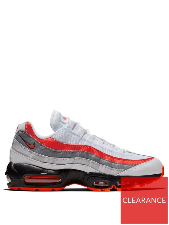 best service a2ea6 f8fa3 Nike Air Max 95 Essential - White Grey Red   very.co.uk