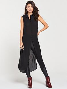v-by-very-sleeveless-longline-shirt-black