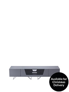 Alphason Chromium 160 cm TV Unit - Grey - fits up to 70 inch TV