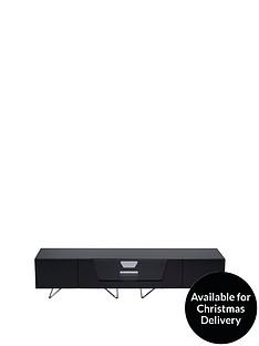 Alphason Chromium 160 cm TV Unit - Black - fits up to 70 inch TV