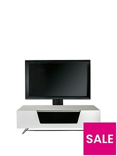 Alphason Chromium 120 cm Cantilever TV Unit - White - fits up to 55 inch TV