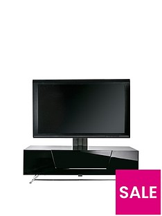 Alphason Chromium 120 cm Cantilever TV Unit - Black - fits up to 50 inch TV