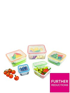 lock-and-lock-nestable-square-food-storage-containers-ndash-set-of-5