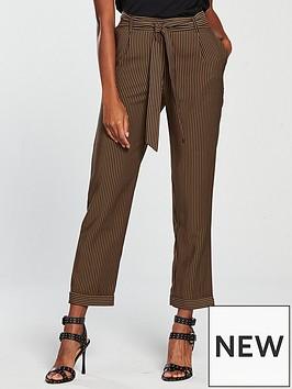 mango-stripe-belted-trouser