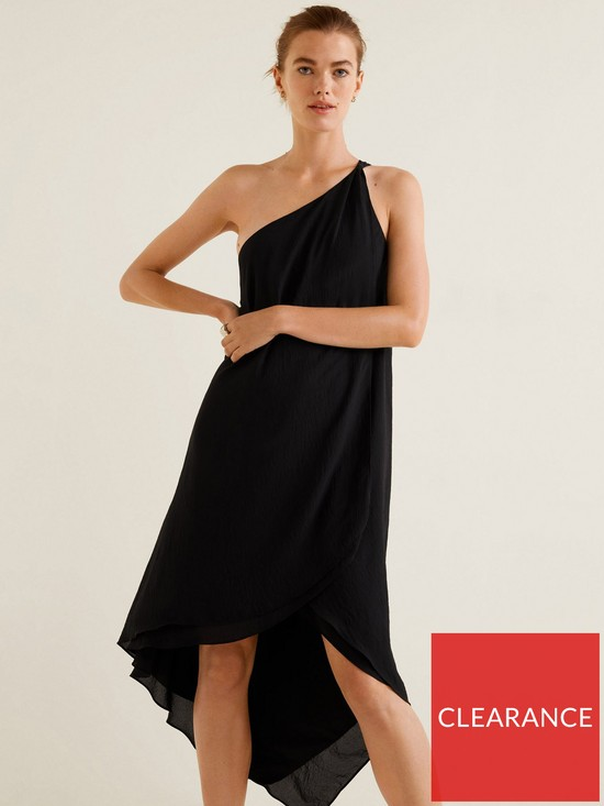 2f748d1880a6 Mango Amilia Asymmetric One Shoulder Dress - Black