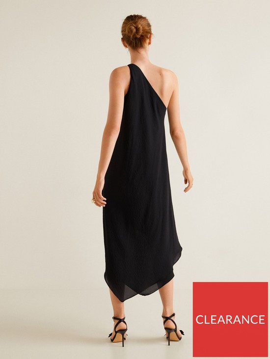 bb34cd902aa9 ... Mango Amilia Asymmetric One Shoulder Dress - Black. View larger