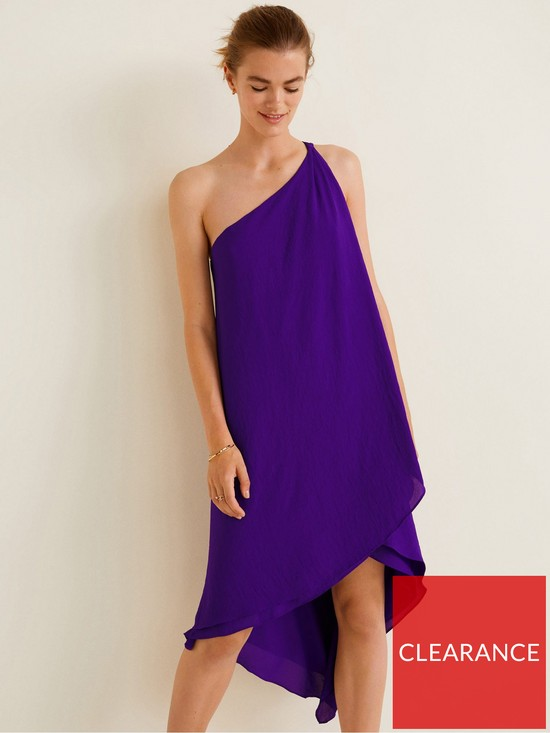 b864fd4b7021 Mango Amilia Asymmetric One Shoulder Dress - Purple