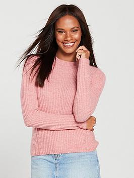 miss-selfridge-knitted-jumper-pink