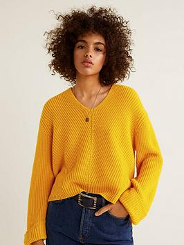 mango-knitted-jumper-yellow