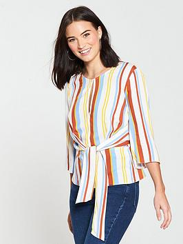 miss-selfridge-side-tie-top-multinbspstripe