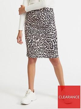 miss-selfridge-belted-skirt-leopard-print