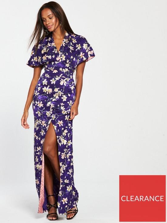 2b1fbc13e793 Mango Printed Maxi Dress - Purple