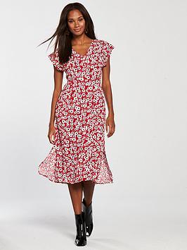mango-floral-day-dress-rednbsp