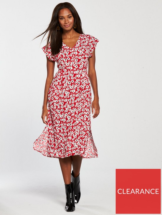 a5c0a86e57 Mango Floral Day Dress - Red | very.co.uk