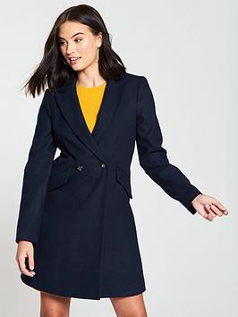 miss-selfridge-smart-coat-navynbsp
