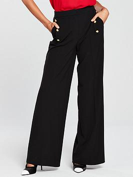 v-by-very-wide-leg-military-trousers-black