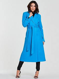 f37f89eb089 Michelle Keegan Longline Wrap Formal Coat - Blue