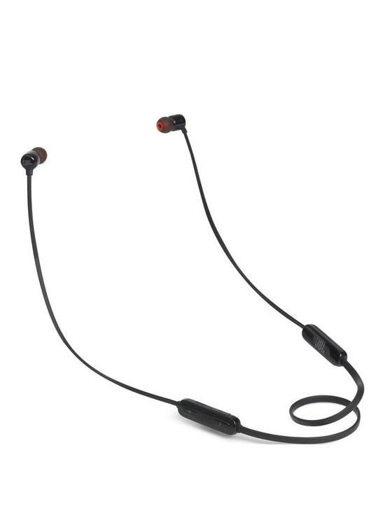 d6f48dd14db JBL T110BT Bluetooth Wireless Neckband Design In-Ear Canal Headphones with JBL  Pure Bass Sound, 3-Button Remote & Mic and 6 Hour Playback Time - Black