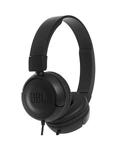 jbl-t450-wired-on-ear-lightweight-foldable-headphone-with-jbl-pure-bass-sound-tangle-free-flat-cable-and-1-button-micremote-black