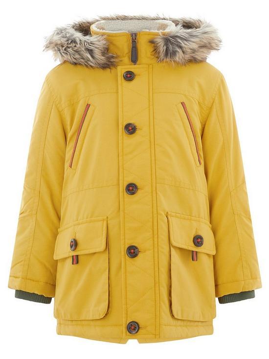 4f0939d3f Monsoon Perry Mustard Parka Coat