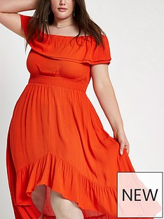 ri-plus-bardot-maxi-dress-red