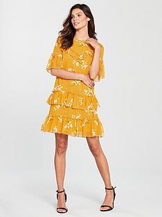 river-island-print-swing-dress-yellow