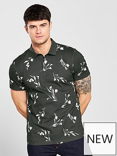 v-by-very-short-sleeved-floral-print-polo