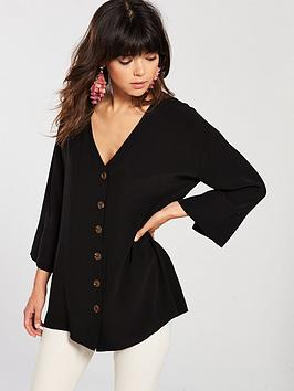 river-island-button-front-blouse-black