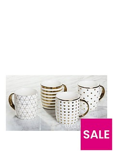 waterside-metallic-gold-mugs-ndash-set-of-4