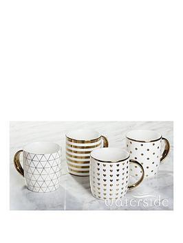 waterside-metallic-gold-mugs-ndash-set-of-4