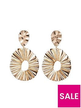river-island-clean-ridged-oval-hoop-earring--gold