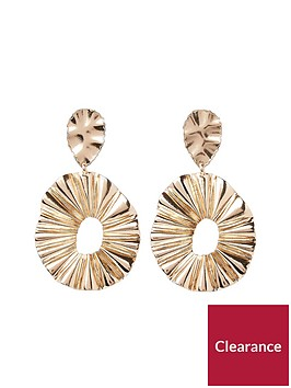 river-island-clean-ridged-oval-hoop-earring--gold