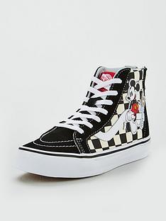 vans-vans-disney-mickey-checkerboard-sk8-hi-zip-children-trainer