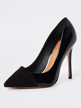 river-island-wide-fit-court-shoe-black