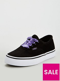 e0207ff34009 Vans Vans Satin Velvet Authentic Children Trainer