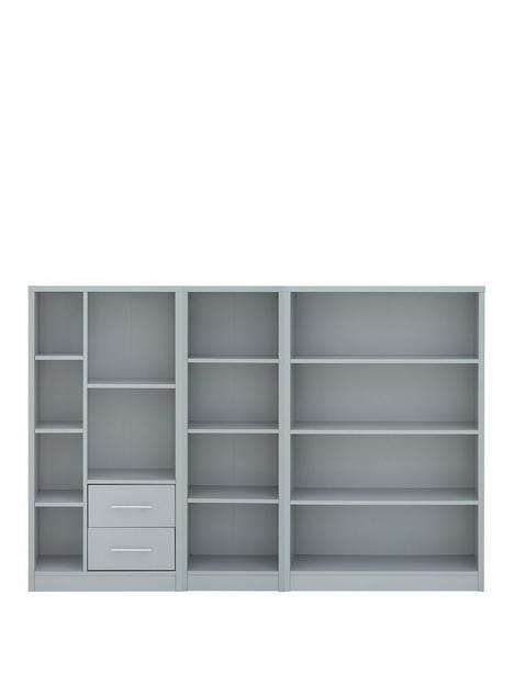 home-essentials--nbspmetro-3-piece-storage-bookcasenbsppackage-grey